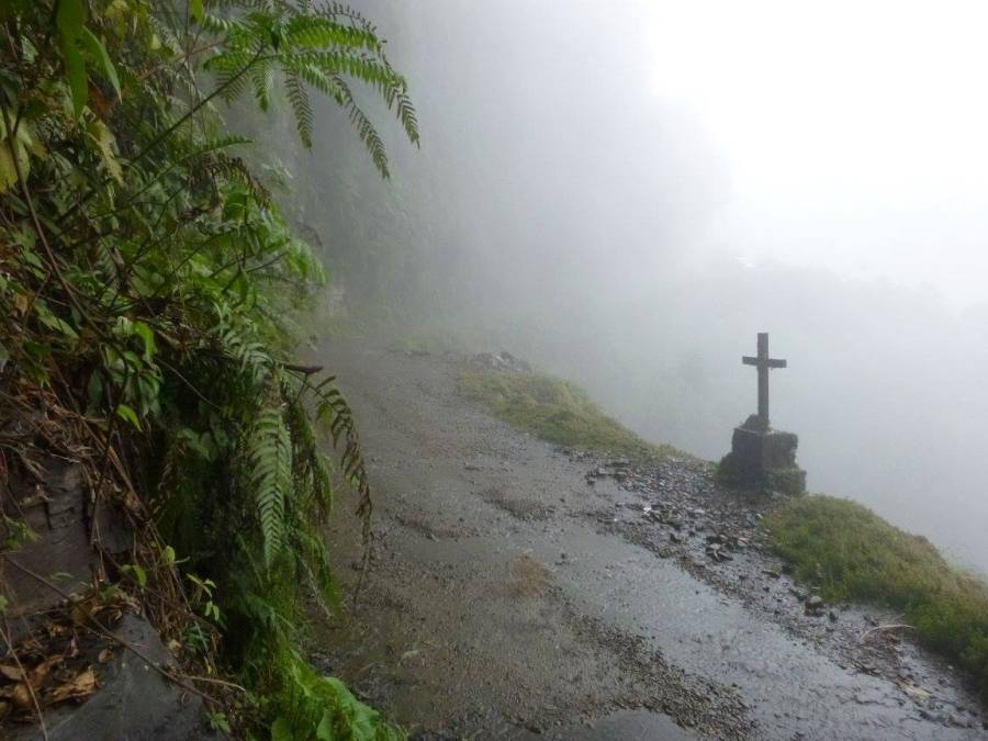 Cross on the Death Road